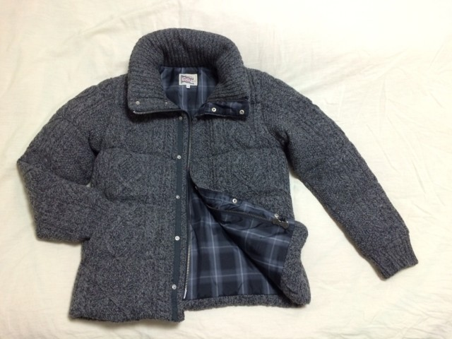 '15 Winter DUFFER CABLE KNIT DOWN