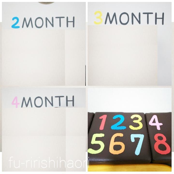 月齢を示す毎月のウォールデコ