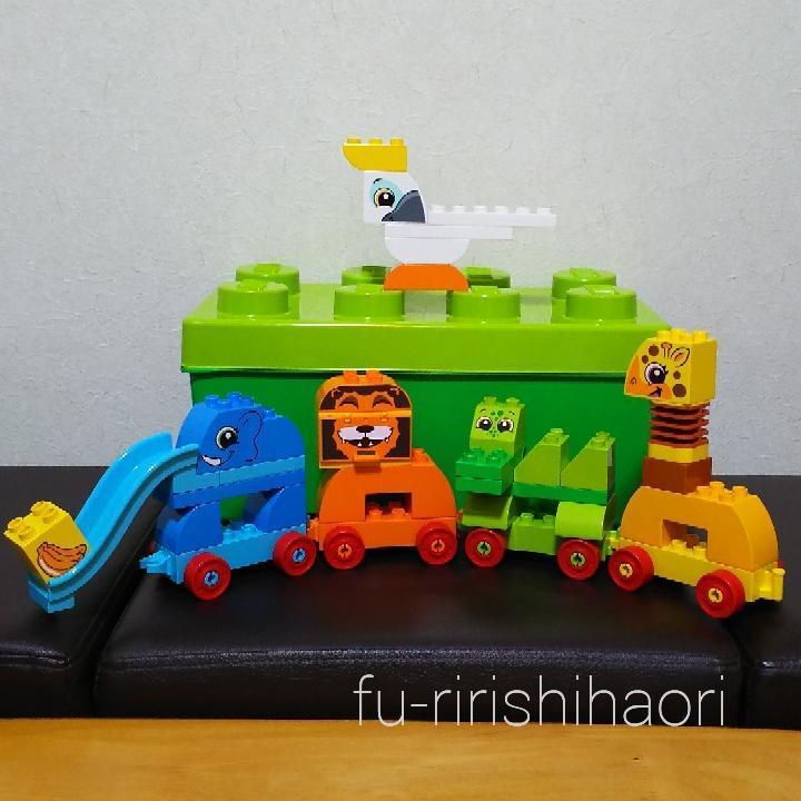 レゴデュプロみどりのコンテナデラックス どうぶつでんしゃの基本作例