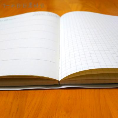 【無印良品】手帳『上質紙マンスリー・ウィークリーノート』が開いている様子