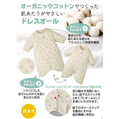 ドレスオール赤ちゃんに優しい仕様の説明画像