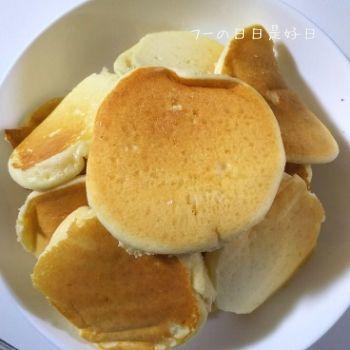みたけ食品工業の『大豆粉と米粉のパンケーキミックス』で焼いたパンケーキ