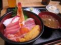 [船橋][市場][和食]船橋中央卸売市場の「みやび」の海鮮丼