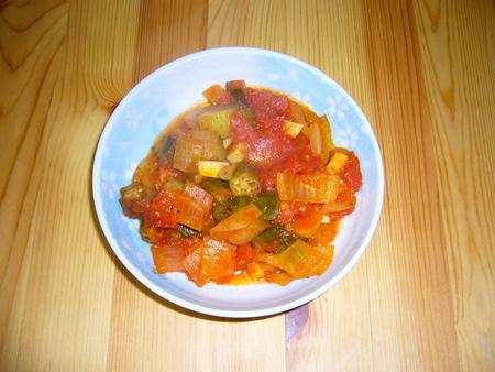 野菜が安かったので、ラタトゥイユなるものを作ってみた。結構ウマー