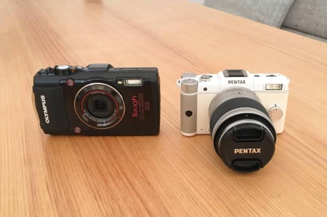 コンデジとミラーレスのデジタル一眼レフカメラ