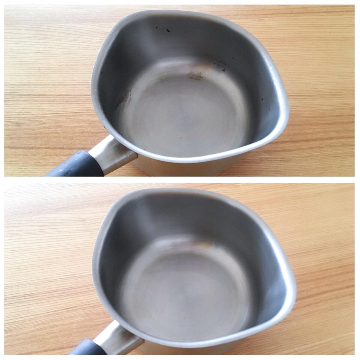 調味料の焦げ付きも簡単に落ちる柳宗理のミルクパン