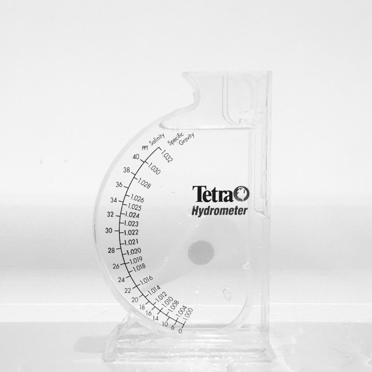 飼育水を満たすだけで直感的に塩分濃度がわかるスケール