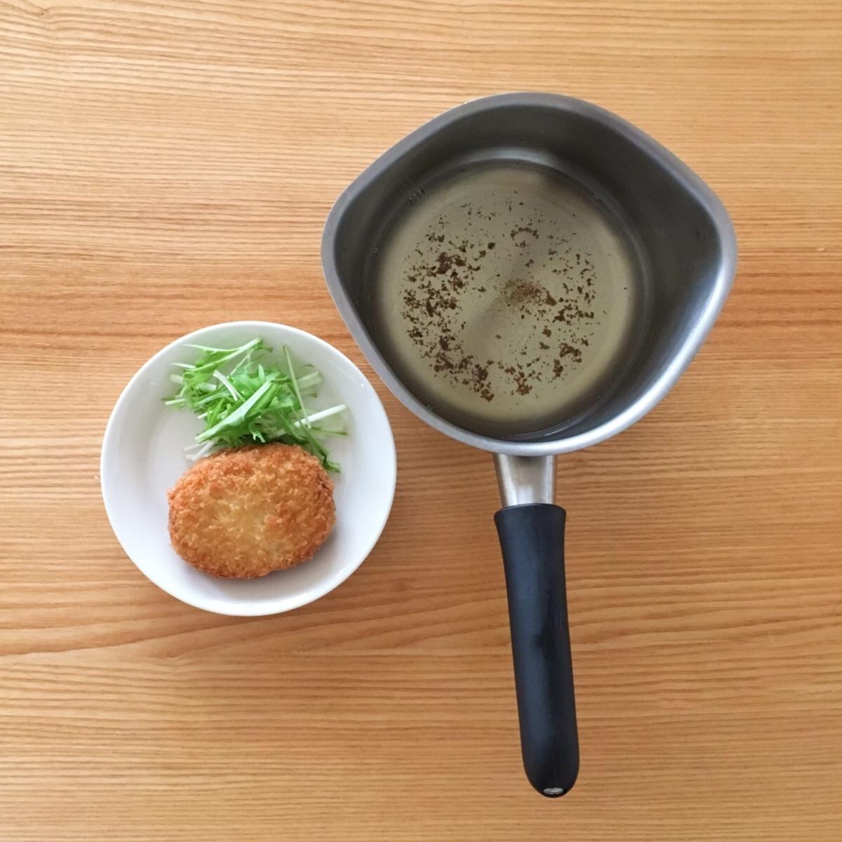 ステンレスの鍋で揚げ物ができる