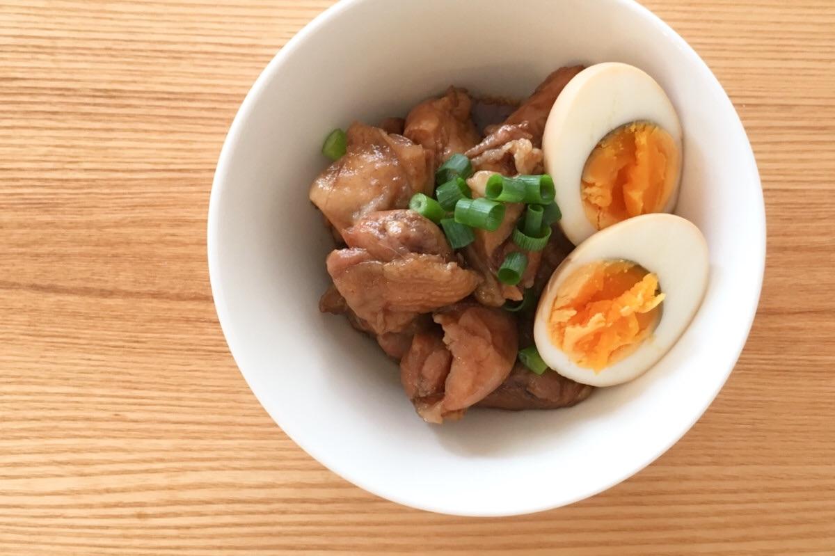 山本ゆりさんのレンジレシピ、ウスターソースを使った鶏の煮物