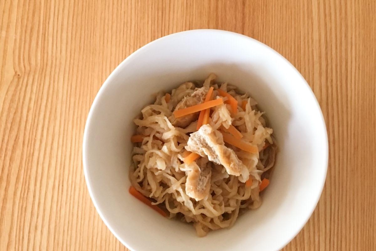 山本ゆりさんのレンジレシピ、ほっとする味の切り干し大根