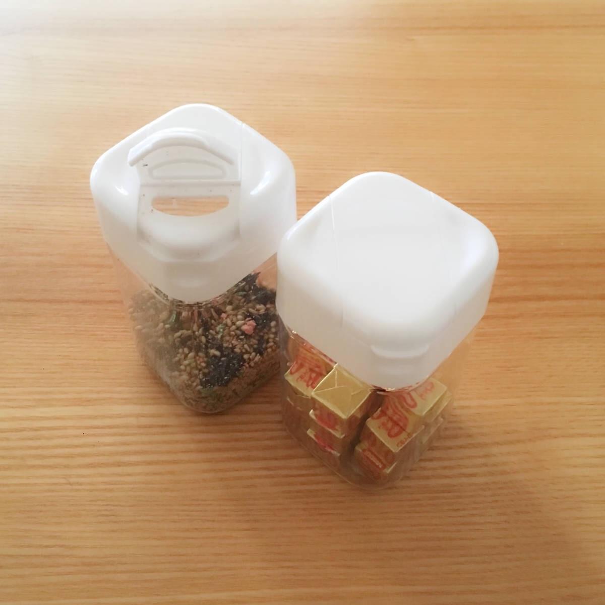 開け口が2種類あるセリアの調味料ケース