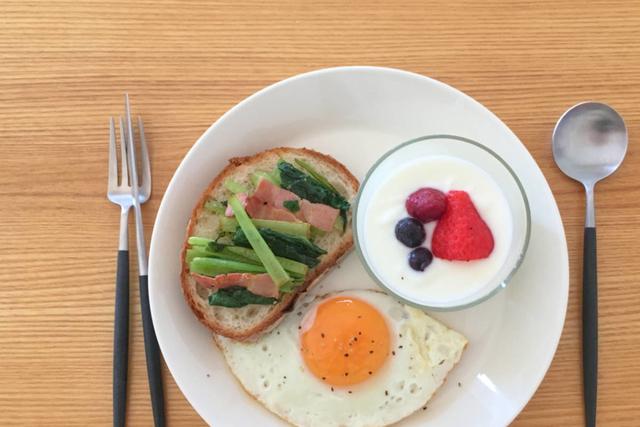 ティーマ21センチを使った朝食ワンプレート