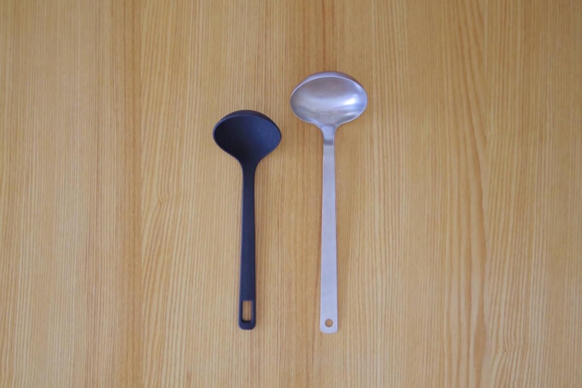 永く使える無印良品のステンレスお玉。重すぎず大きすぎない小サイズ