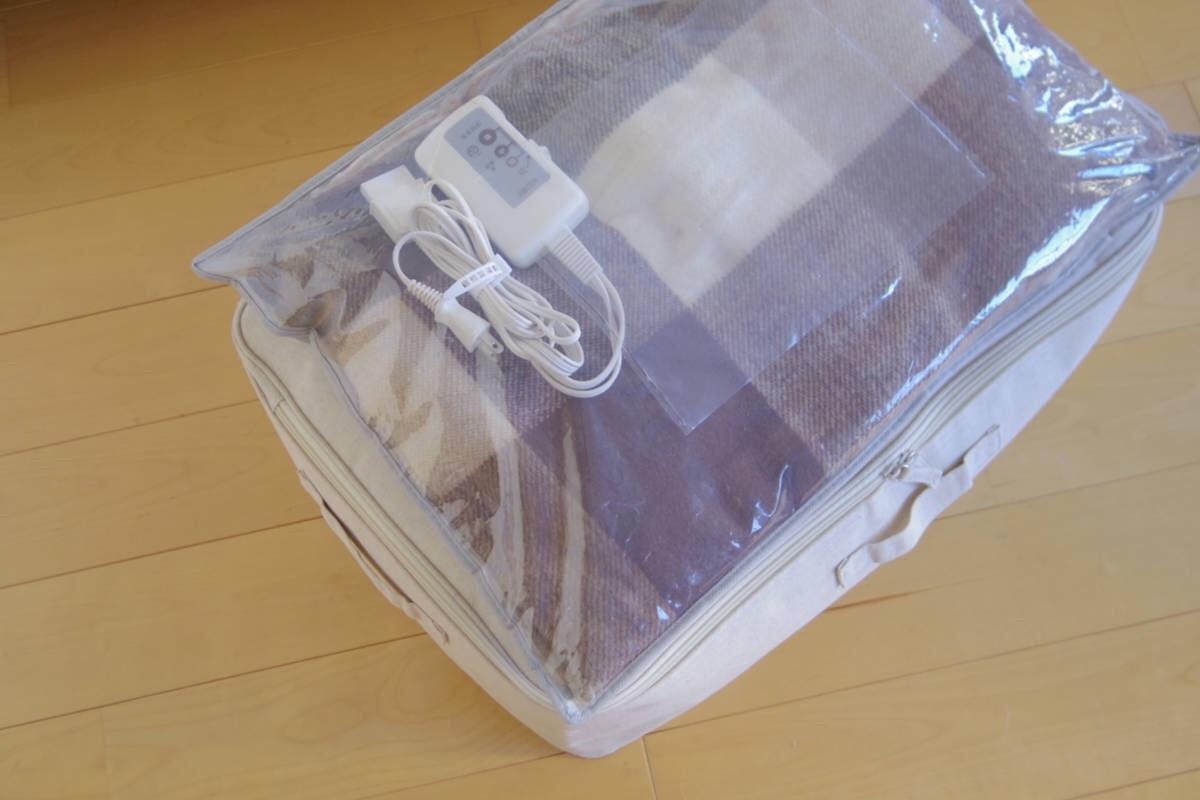 コントローラーを外してジッパー付き袋に入れた電気毛布