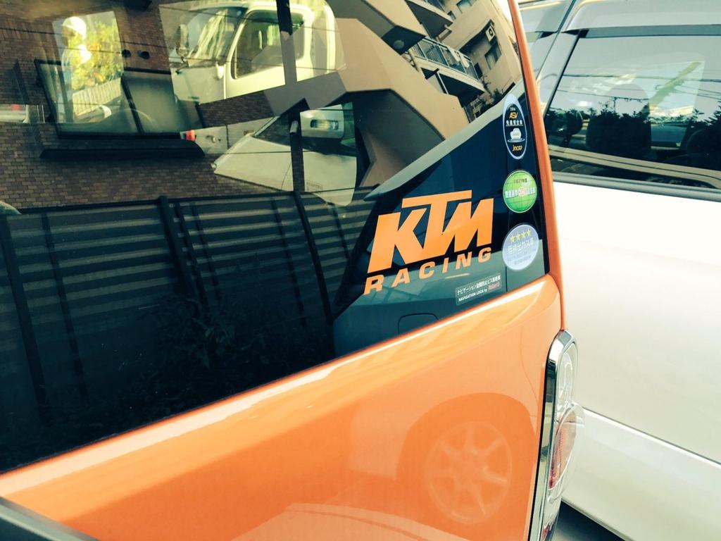 SUZUKIハスラーにKTMのデカールステッカー