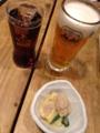 生ビール・黒ハイボール