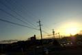 [風景]日没と電線