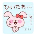 ピンクのうさぎ(ひいたわ…)
