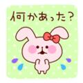ピンクのうさぎ(何かあった?)