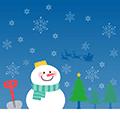 雪だるまとサンタ