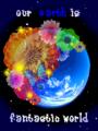 地球と花と蝶々