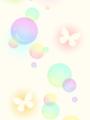 シャボン玉と蝶々