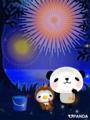 パンダと小鳥(花火)