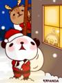 パンダとりすと小鳥(クリスマス)