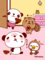 パンダとりすと小鳥(バレンタイン)