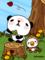 パンダと小鳥(春)