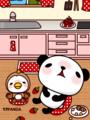 パンダと小鳥(いちご)