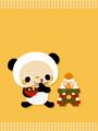 パンダ(鏡餅)