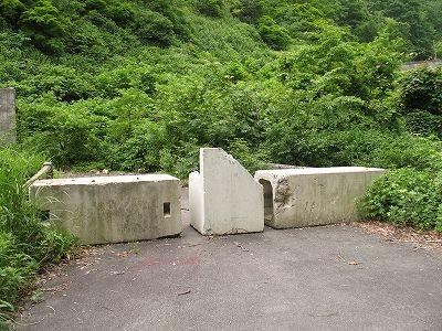 大猿倉沢橋のバリケード