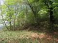 檜原峠鞍部と境塚