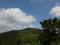三角山登山道から杢蔵山を見るの図
