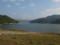 梨平公園から茂庭っ湖越しに摺上川ダムを見る