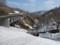月山第一トンネル前から田代沢を見るの図