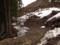 伐採が進む主寝坂峠