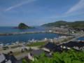由良漁港と白山島