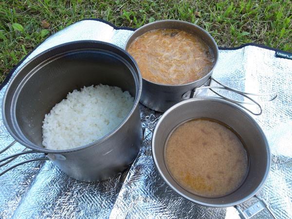 米炊き練習中
