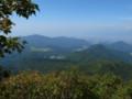 面白山山頂から見る天童高原の図