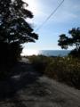 三崎新道から日本海を見るの図