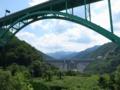 七五三掛から見る月山ダムと山形道