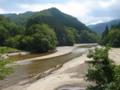 木川ダム上流側の朝日川