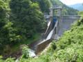 木川ダム放水中