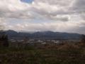 山頂アンテナ小屋から面白山方面を見るの図