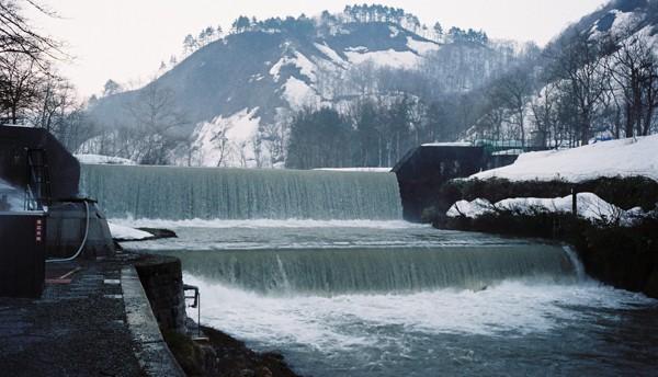 肘折のダム