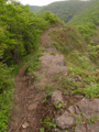 狭い岩場を渡ります