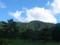 西蔵王高原牧場から瀧山を見るの図