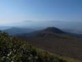 稜線手前のおなじみの光景